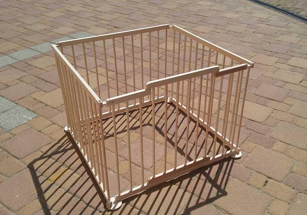 4 elemes Babakerítés - négyzet